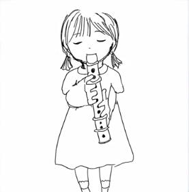 掛橋沙耶香の笛を吹く人の絵