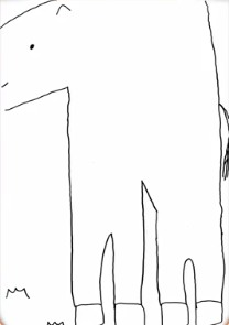 北川悠理の馬の絵