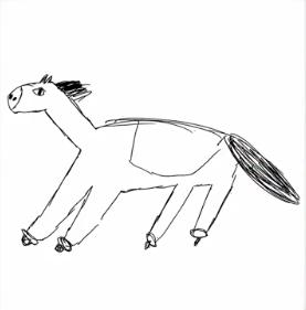 北野日奈子の馬の絵