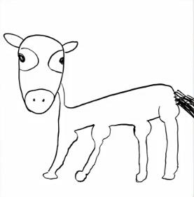 向井葉月の馬の絵