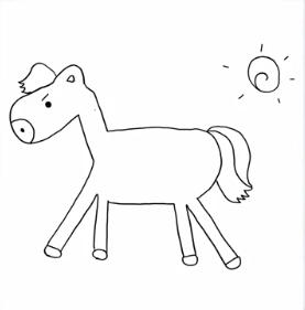 斉藤優里の馬の絵