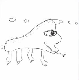 阪口珠美の馬の絵