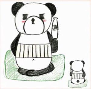 酒くさそうなパンダ