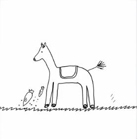 白石麻衣の馬の絵