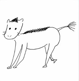 梅澤美波の馬の絵